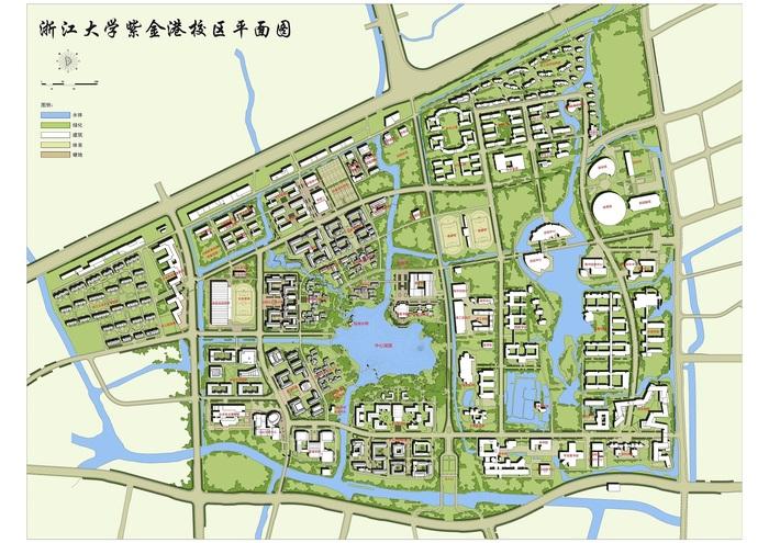 海湾大学城 平面图